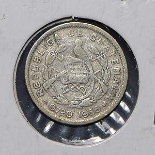 1958 GT Guatemala 1958 5 Centavos Quetzal animal 900720 DE PO-01