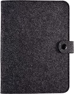 A5 Notebook Binder,Recyclable 6 Ring Binder Cover,Refillable Diary Student Notebook,POLATU(A5 9 x 6.69'' Dark Grey)