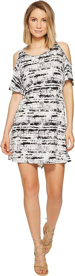 Stamped Tie-Dye Dress KS6K7982