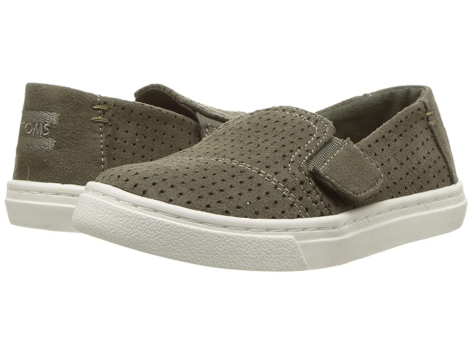 TOMS Kids Luca (Infant/Toddler/Little Kid) (Tarmac Olive Perforated Microfiber) Kid