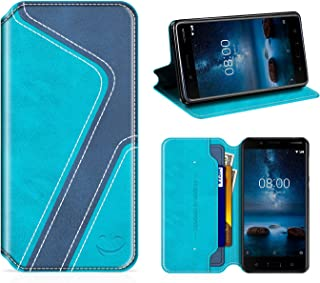 Coque Compatible avec Nokia Nokia 8 Etui PU Cuir Housse Portefeuille Porte-Cartes Support Stand Noir ebestStar Appareil: 151.5 x 73.7 x 7.9mm, 5.3