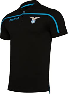 5e0bb1a5fe5 SS Lazio Player Black Cotton Polo 2018-19 Original Product