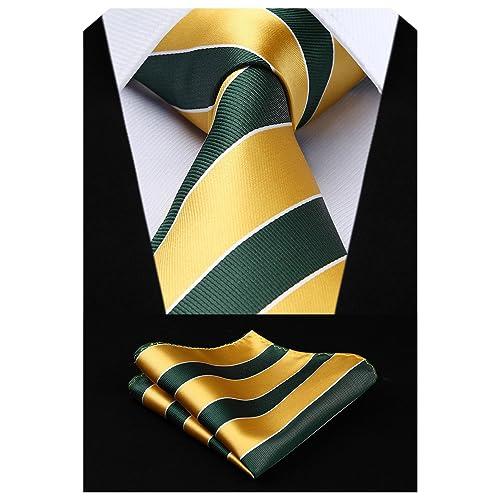 3d20e6eddb54 HISDERN Extra Long Polka Dots Tie Handkerchief Men's Necktie & Pocket  Square Set