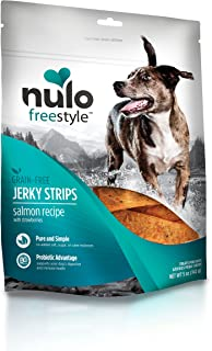 Nulo Puppy & Adult Freestyle Jerky Dog Strips: Natural Healthy Real Meat Grain Free Dog Treats for Training Or Reward  (Sa...