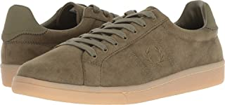 Fred Perry Men's B721 Microfibre Burnt Olive 8 D UK