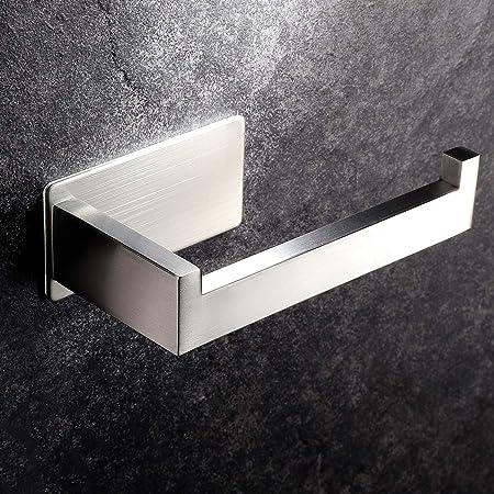Toilettenpapierhalter ohne Bohren Klopapierhalter Selbstklebend Papierhalter Edelstahl f/ür Badezimmer