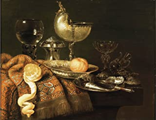 Willem Claesz Heda A Still Life with a Nautilus Cup, a Silver Salt Cellar, etc. Private Collection 30