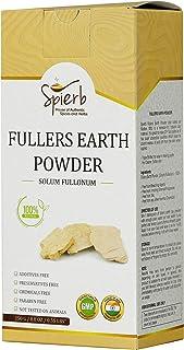 Spierb Fullers Earth Polvo de Arcilla India Arcilla Bentonita Multani Mitti Mud Powder para Pack facial Polvo de Arcilla M...
