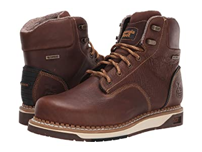 Georgia Boot AMP LT Wedge Waterproof 6 Work Boot (Dark Brown) Men