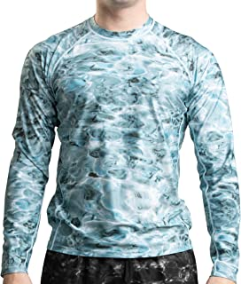 Rash Guard Men: Swim Shirts for Mens UV Long Sleeve Rashguard