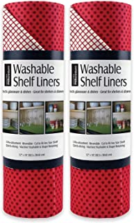 DII Non Adhesive Cut to Fit Machine Washable Shelf Liner Paper For Cabinets, Kitchen Shelves, Drawers, Set of 2, 12 x 10