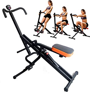 TOTAL CRUNCH Full Ab Body Fitness Horse Riding with Monitor and 12 Hydraulic Resistance
