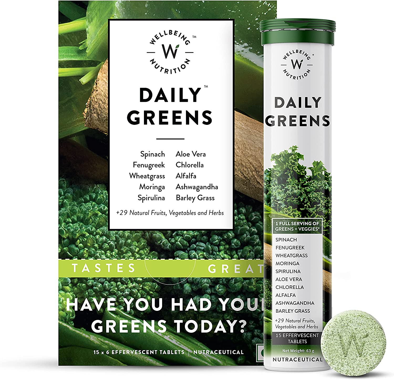 Wellbeing 売却 Nutrition Daily Greens 新品未使用正規品 Multivitamin Wholefood with Vi