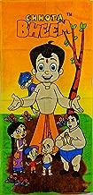 Chhota Bheem Kids Printed Cotton Bath Towel (Orange & Brown)