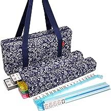 New! - American Mahjong Set by Linda Li8482; - 166 Premium White Tiles, 4 All-in-One Rack/Pushers, Blue Paisley Soft Bag – Classic Full Size Complete Mahjongg Set