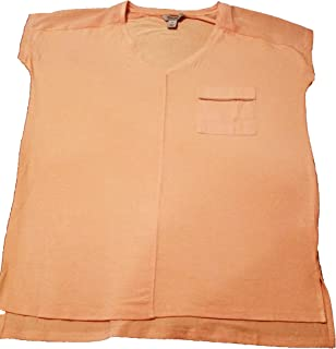 Kenneth Cole Reaction Vee Neck Pocket Tee for Women - Peach