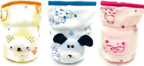 The Little Lookers Philips Avent/Broad Neck Feeders Soft Plush Stretchable Baby Feeding Bottle Cover with Strap for 125ml Avent/Broad Neck 120 ml and 140 ml Feeders -Combo of 3