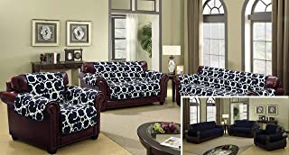 Quick Fit - The Original Reversible Water Resistant Furniture Cover for Dogs, Kids, Pets Sofa Slipcover for Couch, Recliner, Loveseat or Chair (Sofa: Navy Blue)