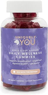 Sponsored Ad - Uniquely You Organic Apple Cider Vinegar Gummie with The Mother, Beetroot, Cranberry, B12 & B9 Vitamins, Ve...
