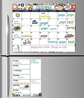Magnetic Dry Erase Fridge Calendar - White Board Magnetic Calendar for Refrigerator, 15