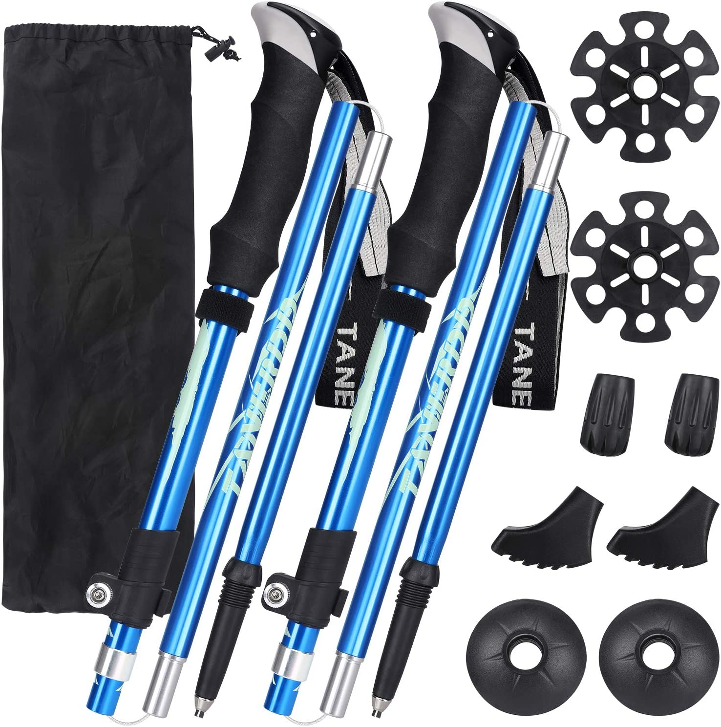 Esup Max 60% OFF Trekking Poles Collapsible Hiking Alloy gift Aluminum 7075