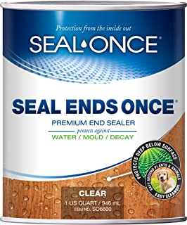 SEAL ENDS ONCE Premium end cut sealer for wood decks & steps. Top-rated Ipe end sealer that protects the exposed ends of all wood species