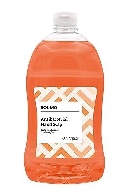 Solimo Antibacterial Liquid Hand Soap Refill, Light Moisturizing