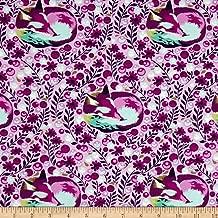 FreeSpirit Fabrics Free Spirit 0441319 Tula Pink Chipper Fox Nap Fabric by The Yard, Raspberry