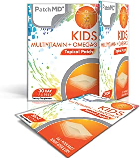 PatchMD - Kids Multivitamin + Omega-3 Topical Patch, 30-Day Supply