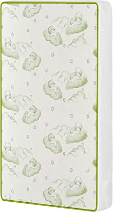 featured product Dream On Me Breathable Two-Sided 3 Square Corner Play Yard Mattress,  White/Green