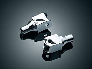 Kuryakyn 8803 Motorcycle Footpeg Component: Tapered Peg Adapters for 1996-2019 Honda Motorcycles, Chrome, 1 Pair