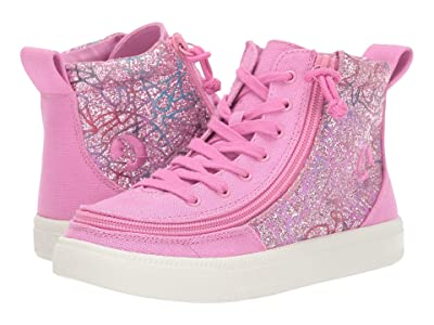 BILLY Footwear Kids Classic Lace High (Toddler/Little Kid/Big Kid) (Pink Print) Girls Shoes