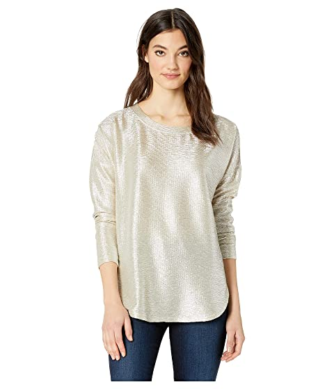ROMEO & JULIET COUTURE Sheer Back Knit Top, Bronze