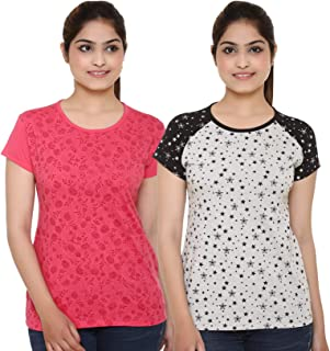 69GAL (105Women's T-Shirt (Multicolors) (Pack of 2) (S/M/L/XL/3CL/5XL)