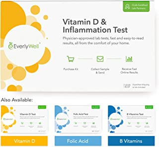 Everlywell Vitamin D and Inflammation Test - at Home - CLIA-Certified Adult Test - Accurate Blood Analysis - Results Within Days - Not Available in NY, NJ, RI