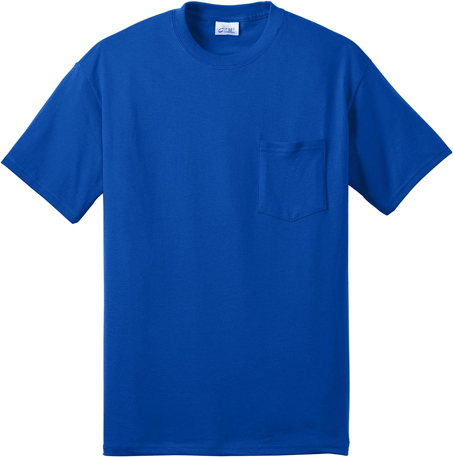 Port & Company Tall 50/50 Cotton/Poly T-Shirt with Pocket>4XLT Royal PC55PT