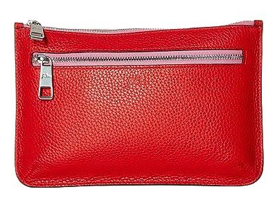 J.Crew Contrast Zip Pouch (Bright Cerise) Clutch Handbags