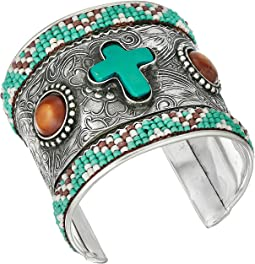 M&F Western - Beaded Cross Cuff Bracelet