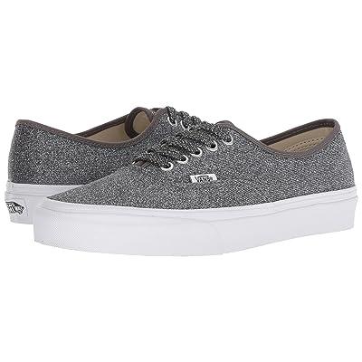 Vans Authentictm ((Lurex Glitter) Black/True White) Skate Shoes
