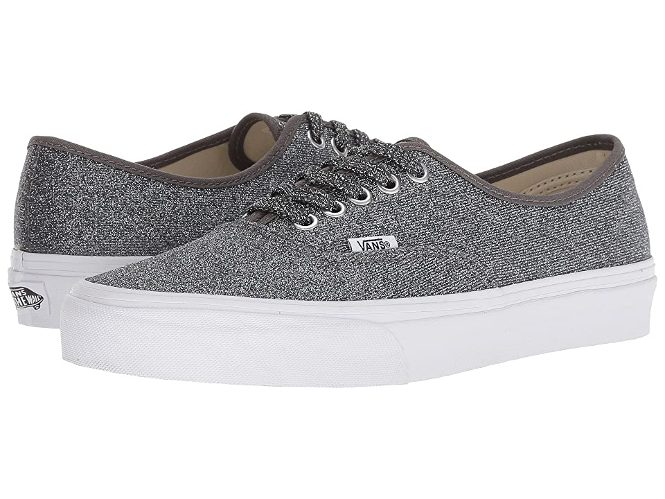 Vans Authentictm ((Lurex Glitter) Black/True White) Skate Shoes