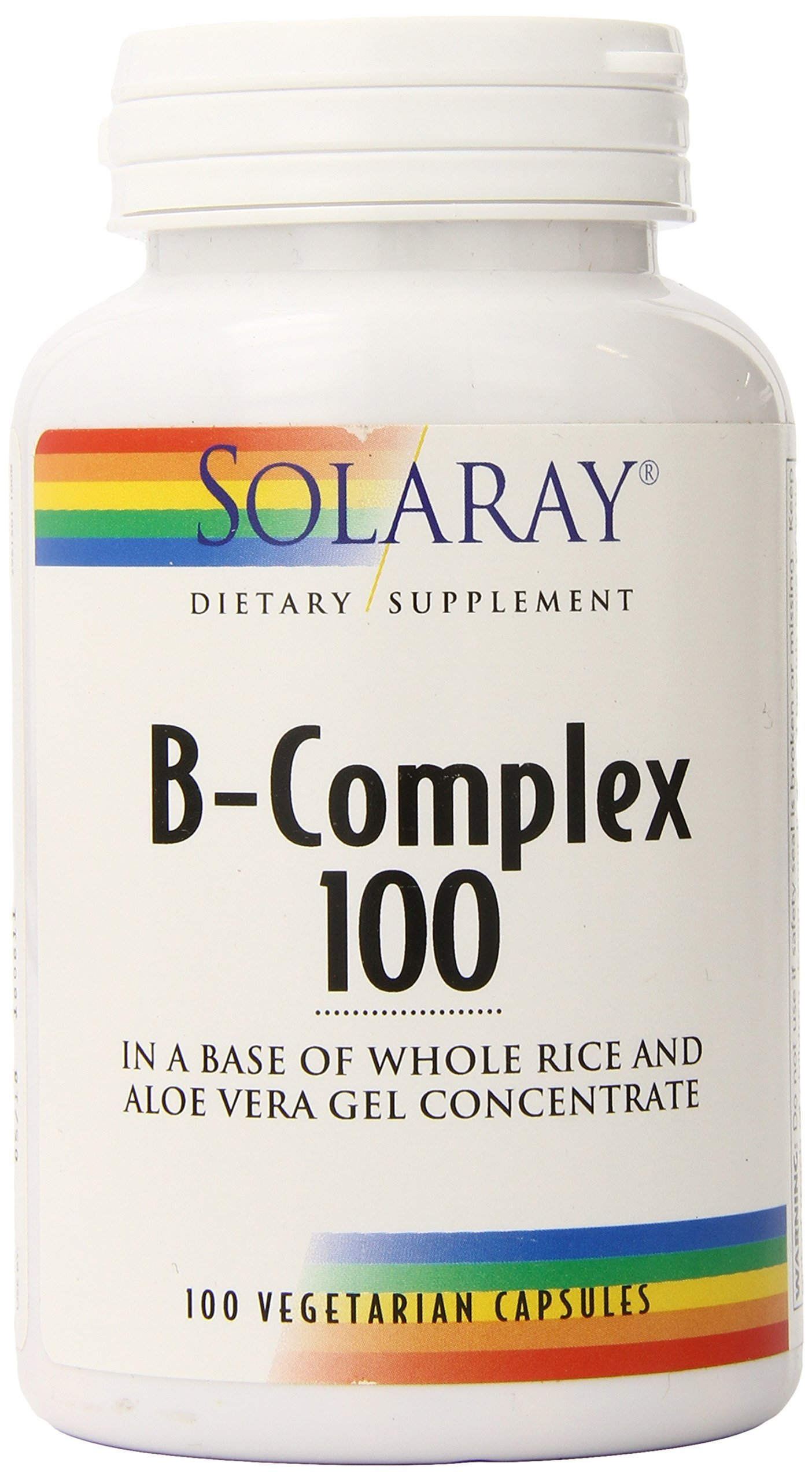 Solaray Vitamin B-Complex 100   Supports Healthy Hair & Skin, Immune System Function, Blood Cell Formation & Energy Metabolism   100 VegCaps