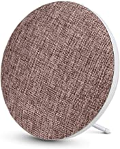 Portable Wireless Bluetooth Speakerwith HighSound Quality,BookshelfDesktop FabricSpeakers,Loud Volume,Rich Bass,Microphone,Hands-Free Calling,AUX Input,Suitable for Indoor&Outdoor(Brown)