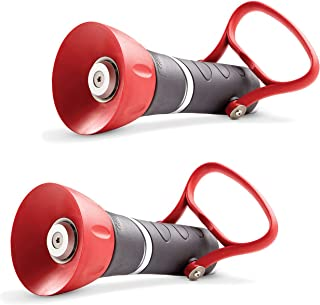 Nelson High-Pressure PRO Fireman's Spray Nozzle with Large On/Off, Red/Black (2 Pack)