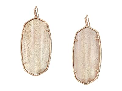 Kendra Scott Faceted Danielle Earrings (Rose Gold/Gold Dusted/Pink Illusion) Earring
