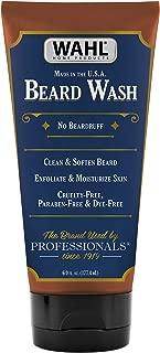 Wahl Beard Wash & Face Exfoliator with Essential Oils for Moisturizing Skin & Beard Hair – Manuka Oil, Meadowfoam Seed Oil, Clove Oil, Moringa Oil – 6 Oz