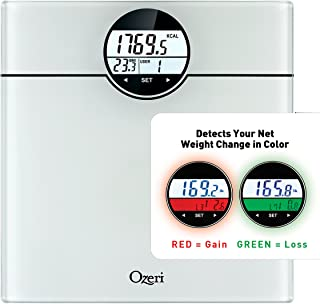 Ozeri WeightMaster (440 lbs / 200 kg) Bath Scale with BMI, BMR and 50 Gram Weight Change Detection