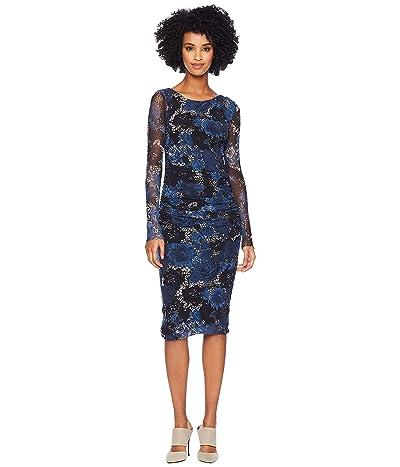 FUZZI Long Sleeve Crochet Flower Dress (Universo) Women