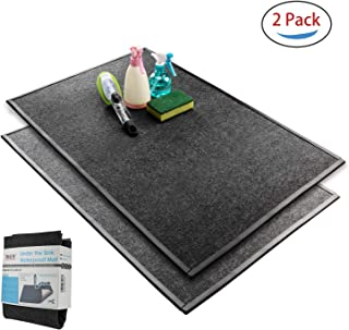 B4Life Under Sink Mat Kitchen Cabinet Liner, Large Waterproof Mat with Side Seal, Protects Cabinet, Contains Liquids - Absorbent/Washable/Durable, 22 1/2'' x 34 1/4'', 2-Pack (Grey)