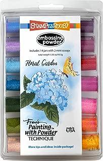 Stampendous EK144 Floral Garden Kit (14Pk) Embossing Powder Set, Jars