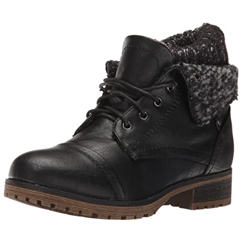 1b0596fa1e6 Refresh WYNNE-01 Women s Combat Style lace up Ankle Bootie